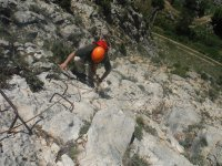 Through the anchorages of the ferrata