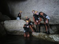 In the cave during the water trekking route