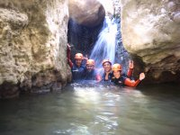 Friends during the water trekking route