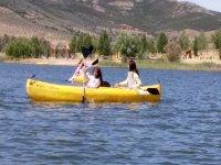 划动的船在卡沃内拉斯的沼泽沼泽