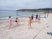 Jugando al volley playa