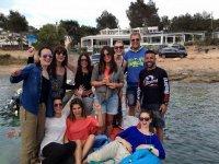 Grupo en la playa de Ibiza