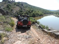 Next to the river in 4x4