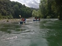 Paseando en canoa en Unquera