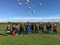 Lanzando los balones en Valencia