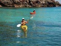 Practicar rutas en kayak