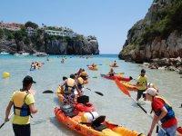 Excursiones guiadas en piragua en Menorca