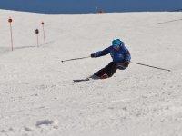 Esquiando en pista
