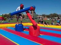 Gladiators in inflatable arena