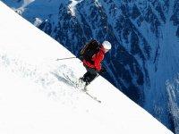 Ejercicios en la estacion de esqui