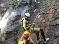 Rappelling in the ravine