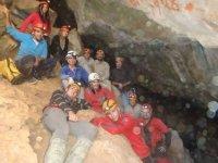 Adventure doing caving