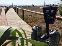 Segway en el paseo hacia la playa