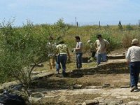 guided tour of remains archeologists