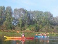 Canoa singola e doppio kayak