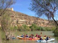 In canoa nella diga dell'Ebro