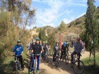Gruppo di mountain bike