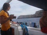 encima del barco
