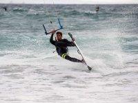 Pau haciendo kite