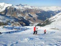 练习级的滑雪场小组