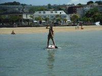 Aprendiendo a palear en paddle surf
