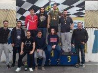 Con los vencedores en el podium