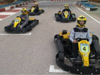Karts listos para la carrera