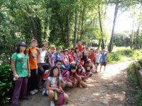 Campistas de excursion