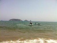 Moto d'acqua sulla riva