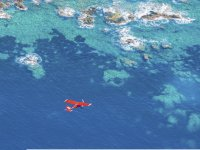 Flying in ultralight over the islands