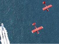 Ultralight flying in parallel on boat