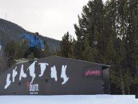 Saltando obstaculo en La Molina
