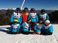 Clases de esquí grupales