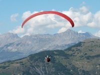 Man flying over the natural landscapes