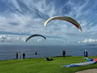 Getting ready for a flight in paragliding