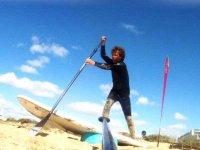 Paddle surf en la arena