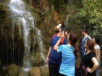Admirando las cascadas del Batan