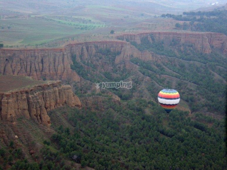 Experiencia de vuelo en globo en Guadix