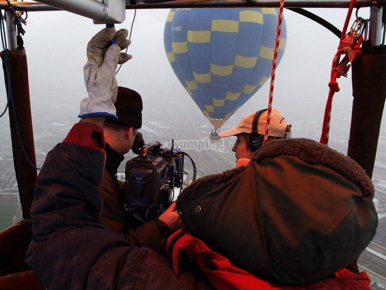 拍摄另一个气球