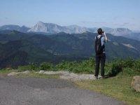 fotografiando unas montanas