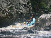 Come down on board a raft