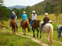 所有路径上骑马在周边
