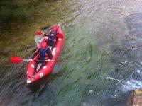 Canoa raft en el rio Cabriel