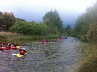 Grupo de rafting en las Hoces del Cabriel