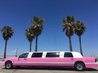 Pink limousine for a hen party