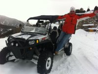 Listo para conducir sobre la nieve