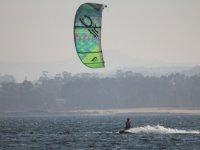 Tavola da kite nell'estuario dell'Arosa