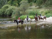 With horses by the river in Coruña