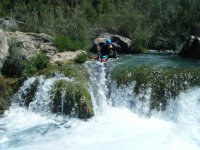 Natural slide Palencia Canyoning