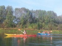 Canoa individual y kayak doble